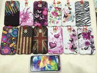 Artistic Beatuiful Flowers Heart Butterfly Gel Soft TPU Cover Case For Samsung Galaxy S5 SV i9600 Back Cover Skin 100pcs/lot