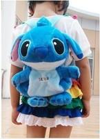 Super cute 1pc 45cm cartoon sweet backpacks Stitch baby plush school shoulder bag children kindergarten stuffed toy boy gift