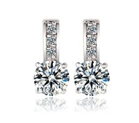 World Pop Nice AAA 925 Sliver  Plated Mona Lisa Zircon Stud Earring for Women Multicolor CZ Stones Gift Wholesale Price 002