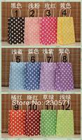 PP038 12 Colors Polka Dots with handle kraft bag food packaging paper bag 21X13X 8cm Gift bag(30pcs/Lot) Wedding/Party Decor