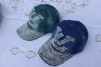 wholesale men and women fashion cap peak street hip-hop men's snapback baseball cap metal sequins hats free shipping