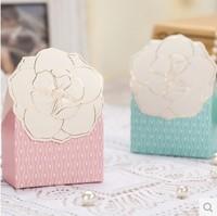 Free shipping! 2014 Newest Europe Creative  Fashion Flower-shaped Wedding Candy Box  Gift Box  Wedding Paper Box 150pcs/lot