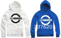 Free shipping 90/100/110/120/130/140/150cm kids hodies DANCER bboy waackin housejazz pullover hoodie clothing 8 color