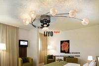 Aluminum finished+White/Warm white+AC85-364V  ceiling light + Free shipping