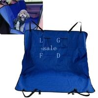 New arrival Cradle Dog Car Rear Back Seat Cover Pet Cat / Dog Hammock Cover Mat Blanket color Blue TK0542