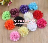 Hot Sale Free shipping! 60pcs/lot 5.5cm 12colors multi layers handmade chiffon flower for baby headband DIY hair accessory