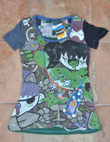 Free shipping NEW summer DESIGUAL women printing short-sleeved shirt Size S M  XIA10708
