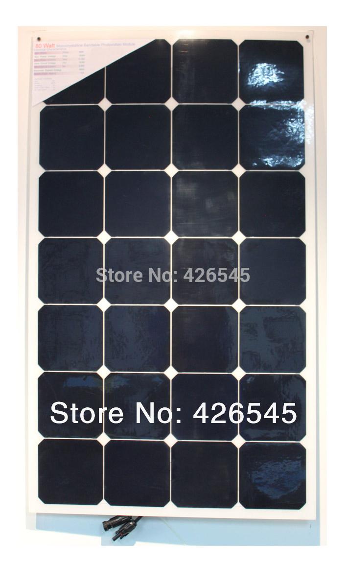 80w photovoltaic solar PV panels,semi flexible solar module,sunpower cell,marine PV PANEL ,high efficiency,Yacht,boat,Caravan(China (Mainland))