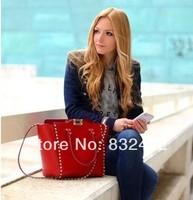 2013 classical New Arrival Fashion Name Brand Designer Women's Vintage Handbag Nubuck Cowhide Ladies genuine leather tote bags
