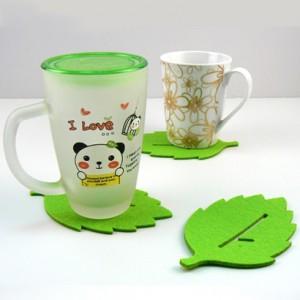 Free shipping Creative fashion coasters / disc pad / mat / blanket decorative greenery Insulation pads 20pcs/lot(China (Mainland))