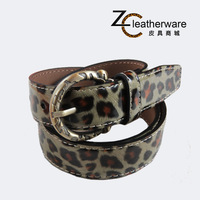 Fashion wild leopard print japanned leather fashion belt all-match women's cowhide genuine leather belt