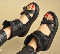 Boots women's shoes summer platform swing open toe shoes cool boots cross straps sandals size 34-39