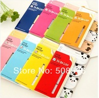New korea cartoon animal To do list memo pad  Sticker marker 12.4*7cm  24pcs/lot