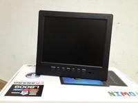 8 tv portable mini lcd tv av monitor tv belt vga line