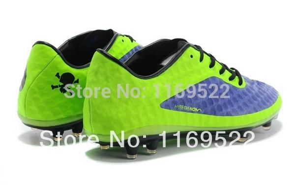 2014 dos homens novos HyperVenom Fantasma FG Botas de Futebol Neymar Chuteiras Rooney chuteiras TPU pregos tênis roxo / Volt(China (Mainland))