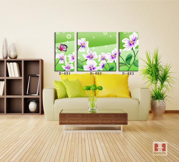 Home Decor Wall Groupings : Panels group wall art canvas paniting home decor green