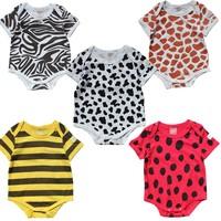 100% cotton baby summer short-sleeve romper trigonometric baby summer romper baby clothes