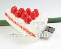 Genuine True Capacity!Free Shipping creative cake style 64gb USB 2.0 Flash Memory Stick Pen Drive 2GB 4gb 8gb 16gb 32gb