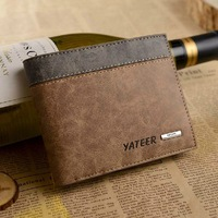 Quality assurance Cowhide wallet Men's genuine leather with pu wallet man leather purse/wallet for men