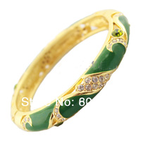 Handmade China Crafts Cloisonne Enamel Bracelets For Women Bangles Bracelet Austrian Rhinestone Fashion Birthday Gift Jewelry