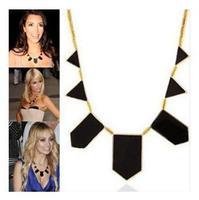 fashion black geometric irregularity chain lady's necklace pendant jewelry. Free Shipping! wholesale!