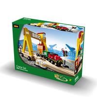 Toy brio train crane set