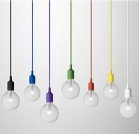 Direct color silicone lamp LOFT American creative DIY IKEA coffee shops Edison Chandelier Bar