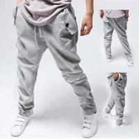 Hot Sell 2014 New arrival men's harem pants ,pockets details ,leisure trousers men Free ship M-XXL