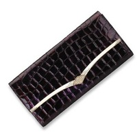 2014 New Fashion Style Genuine Leather Designer Brand Clutch Wallet Purse For Women Crocodile Clutch Bag Handbag Coin Purse