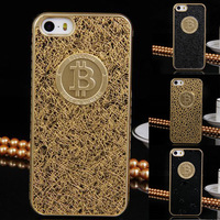 Hot 2014 Brand Bitcoin New Arrive Luxury Leather Cover Case For Iphone 5 5s 5G