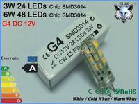 ZK20 5X Base G4 led light High Power SMD3014 3W/6W 24/48 chips DC12V LED G4 Lamp g4 led 360 Beam Angle dimmable LED G4 Bulb lamp