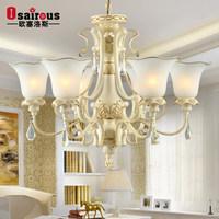 European-style living room chandelier lighting romantic bedroom garden restaurant entrance lamps crystal lamps 501 J
