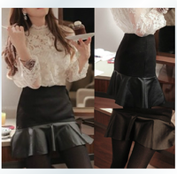 2014  spring bust skirt female puff skirt slim high waist hip short skirt 205