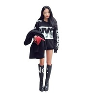 New 2014 Fashion  Printed women Hoody  Long Sleeve T Shirts cool rock punk  Sweater Pullover space galaxy Sweatshirts Top