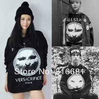 2014 newest Fashion  Printed Hoodie 3D Long Sleeve T Shirts cool cat punk  Sweater Pullover space galaxy Sweatshirt Top