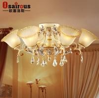 2014 Real New Lampshade [ Aj ] Los Minimalist Living Room European-style Crystal Chandelier Bedroom Lamp Garden Lighting 102/6f