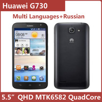 Original Huawei G730 5.5 Inch IPS QHD 960x540 MTK6582 Quad Core Android Mobile Phone BT GPS Russian Multi languages support