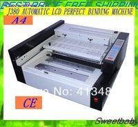 Parts Free shipping A4 desktop Automatic LCD desktop  glue binding machine /Perfect binder binding machine