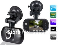 "Free shipping + Car dvr 2014 A800 2.7"" TFT Screen Novatek 140-degree Wide-angle Lens Vehicle Black Box DVR Camera Video Recorder"