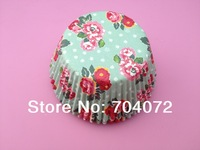 wholesale-free shipping 100 pcs/lot flower design food grade paper cupcake cases baking tool cake cup muffin cases