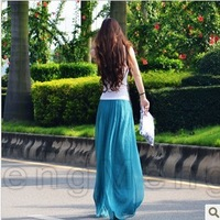 women's fashion gold pants wide leg chiffon skirt pants casual pants bohemia