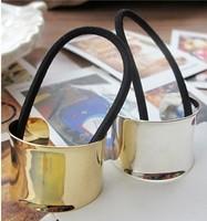 Newly 12pcs/lot DIY Vintga Cubic Hair Band Metallic Golden/Sliver Hair Rope Headwear