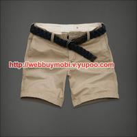 2014 Hot sales Summer men's casual Cargo Shorts Mens Sport beach pants Belt free shipping