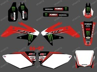 New Style POWER 0373 TEAM GRAPHICS & BACKGROUNDS DECALS STICKERS kits for HONDA CRF250 CRF250R 2006 2007