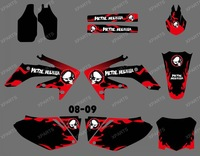 new style METAL FIRE 0376 TEAM GRAPHICS & BACKGROUNDS DECALS STICKERS for HONDA CRF250 CRF250R 2008 2009