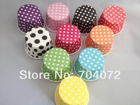 2015 Baking Tools for Cakes Cake Tools Wholesale-free Shipping 100 Pcs/lotpolka Dot Greaseproof Paper Case Cupcake Liners Cases