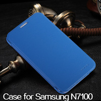 Luxury Flip PU Leather Case for Samsung Galaxy Note 2 N7100 Ultra Thin Case Full Body Protection f\Free Shipping