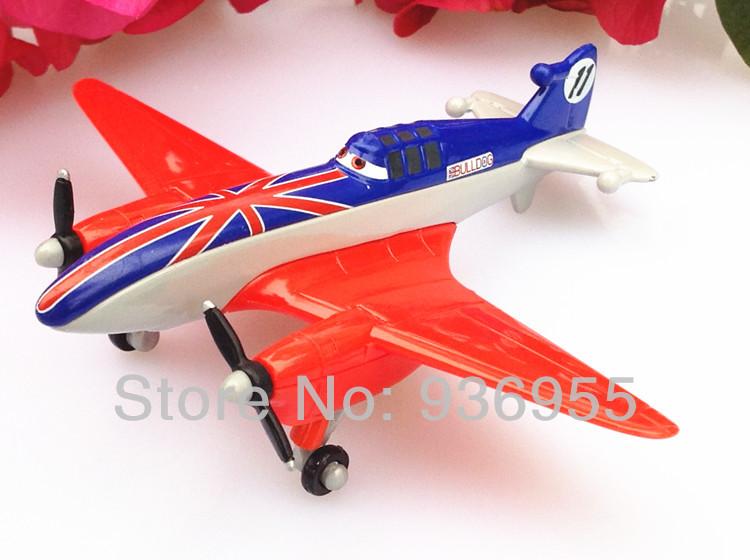 Free Shipping 1:55,No.11 Pixar Planes Toys Bulldog Racing Metal Model Toy For Children(China (Mainland))