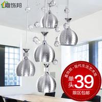 Brief modern lighting restaurant lamp bedroom lamp living room lights crystal lamp pendant light 2363