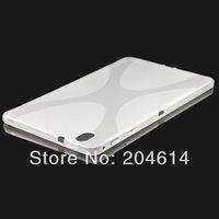 Galaxy Tab Pro 8.4 S Type Soft Case, Anti-skid X Line Wave Soft TPU Gel Skin Case For Samsung Galaxy Tab Pro 8.4 T320 50POS/LOT